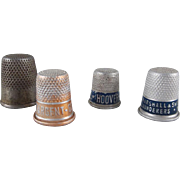 Group of 4 Thimbles 3 are Advertising Premiums