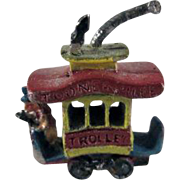 Small Lead Toonerville Trolley Toy