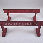 Arcade Cast Iron 'Road Closed' Barricade 1938-41 have 2