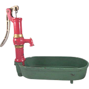 Hubley Cast Iron Pump with Oval Basin Toy