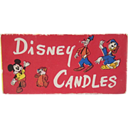 Disney Character Candles in Original Box with Wrappers Not Used 1950s