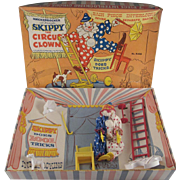 Knickerbocker Skippy the  Circus Clown Complete in Original  Box