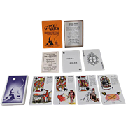 Gypsy Witch Fortune Telling Playing  Cards in Original Box with Instructions