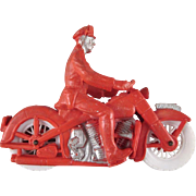 Auburn Rubber Police Motorcycle Toy