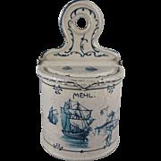 Early Tin Litho Flour Canister Dollhouse Accessory