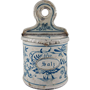 Early Tin Litho Salt Canister Dollhouse Accessory