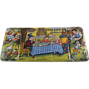 Alice in  Wonderland Made in England Page of London Tin Litho Paint Box