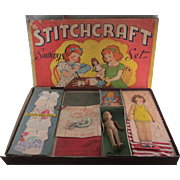 Stitchcraft Sewing Set by Concord Toys Complete in Rough Box
