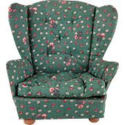 """Stuffed 8"""" Doll Furniture Wing Back Chair"""