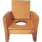 "Strombecker Mid Century Modern Potty Chair for 8"" Dolls"