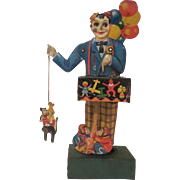 Kellerman Made in Germany Early Tin Litho Balloon Vendor Windup Works