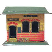 Chein Tin Litho American Railway Express Building No. 91 for Train Set Up and  a Toy