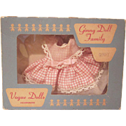 Vintage Ginny Boxed Red Checked Dress with Shoes and Socks 18437 Doll  Clothes