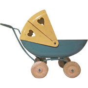 Wyandotte Pressed Steel Baby Carriage Larger Size for Dolls