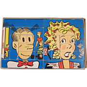 Blondie & Dagwood Interchangeable Blocks in Original Box 1951