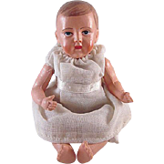 "Viscoloid Jointed Celluloid Baby Doll 5"" tall Marked"