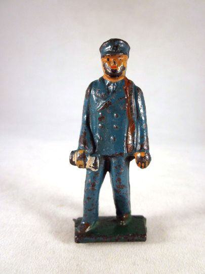 Grey Iron Postman Cast Iron Toy Figure