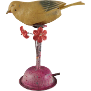 Celluloid Bird Whistle with a Metal Perch