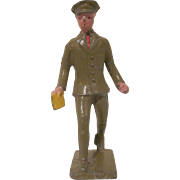 Lincoln Logs Cast Metal Telegraph Messenger Figure, Toy
