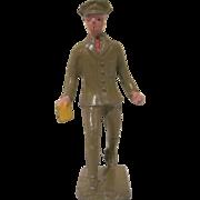 Lincoln Logs Cast Metal Telegraph Messenger Figure, Toy