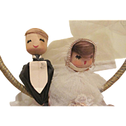 Crepe and Tissue Paper with Netting Large Wedding Cake Topper Decoration