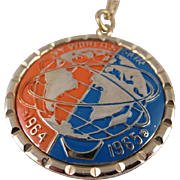 New York 1964/65 World's Fair Pendant Necklace