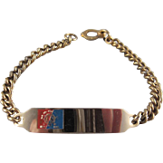 New York 1964-65 World's Fair ID Bracelet Not Etched