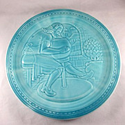 New York 1939 World's Fair 'The American Potter Exhibit' Plate by Homer Laughlin