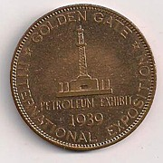 1939 San Francisco Golden Gate Exposition Petroleum Coin