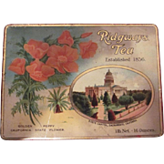 California Pan Pacific International Exposition 1915 World's Fair Ridgways Tea Tin