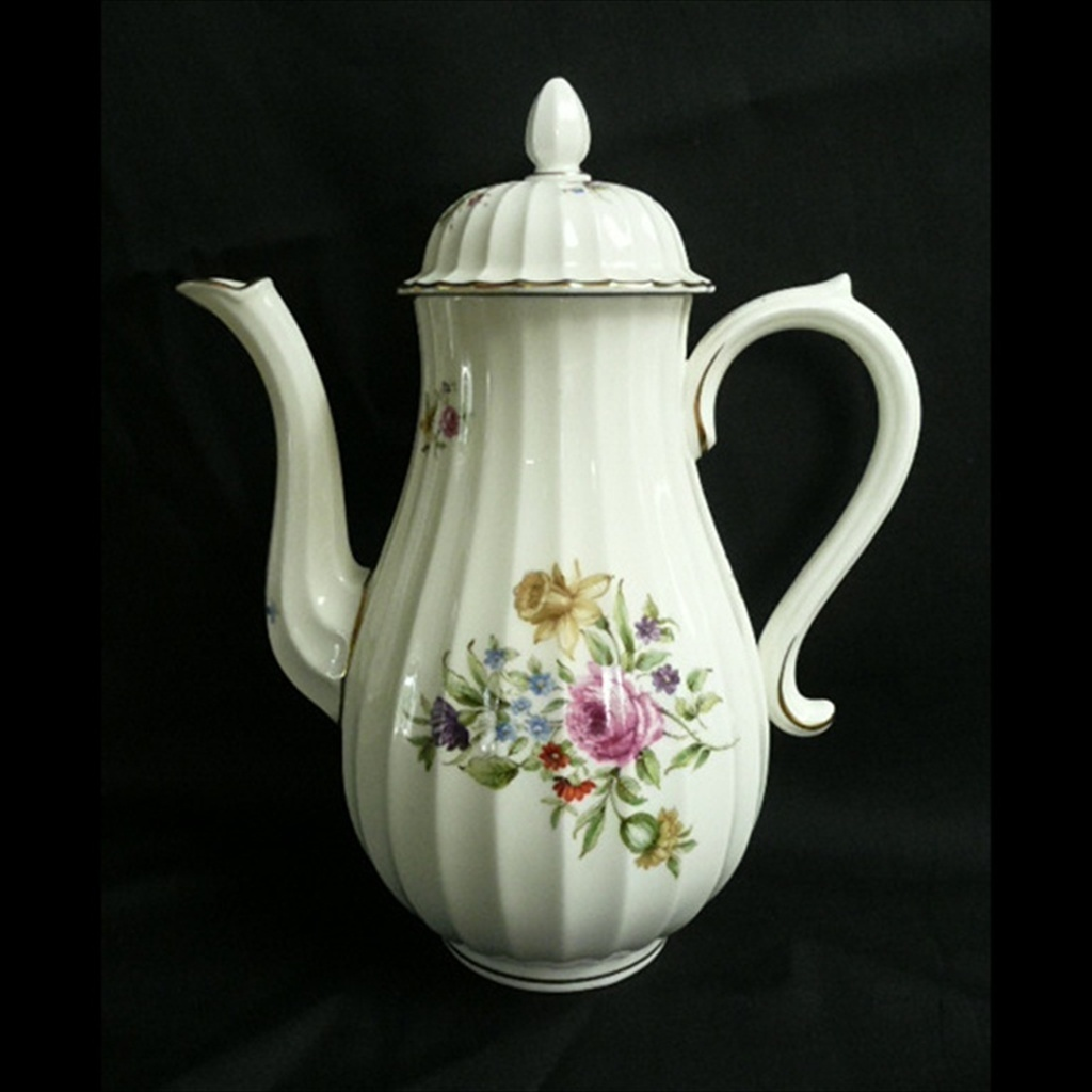 Royal Worcester Coffee Pot with Lid Discontinued Roanoke Pattern