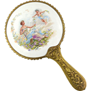 Antique Limoges Hand Held Mirror Hand Held Vanity Mirror