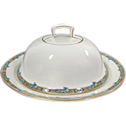 Antique Covered Butter Dish J & G. Meakin Made In England British Reg. Mark 1902