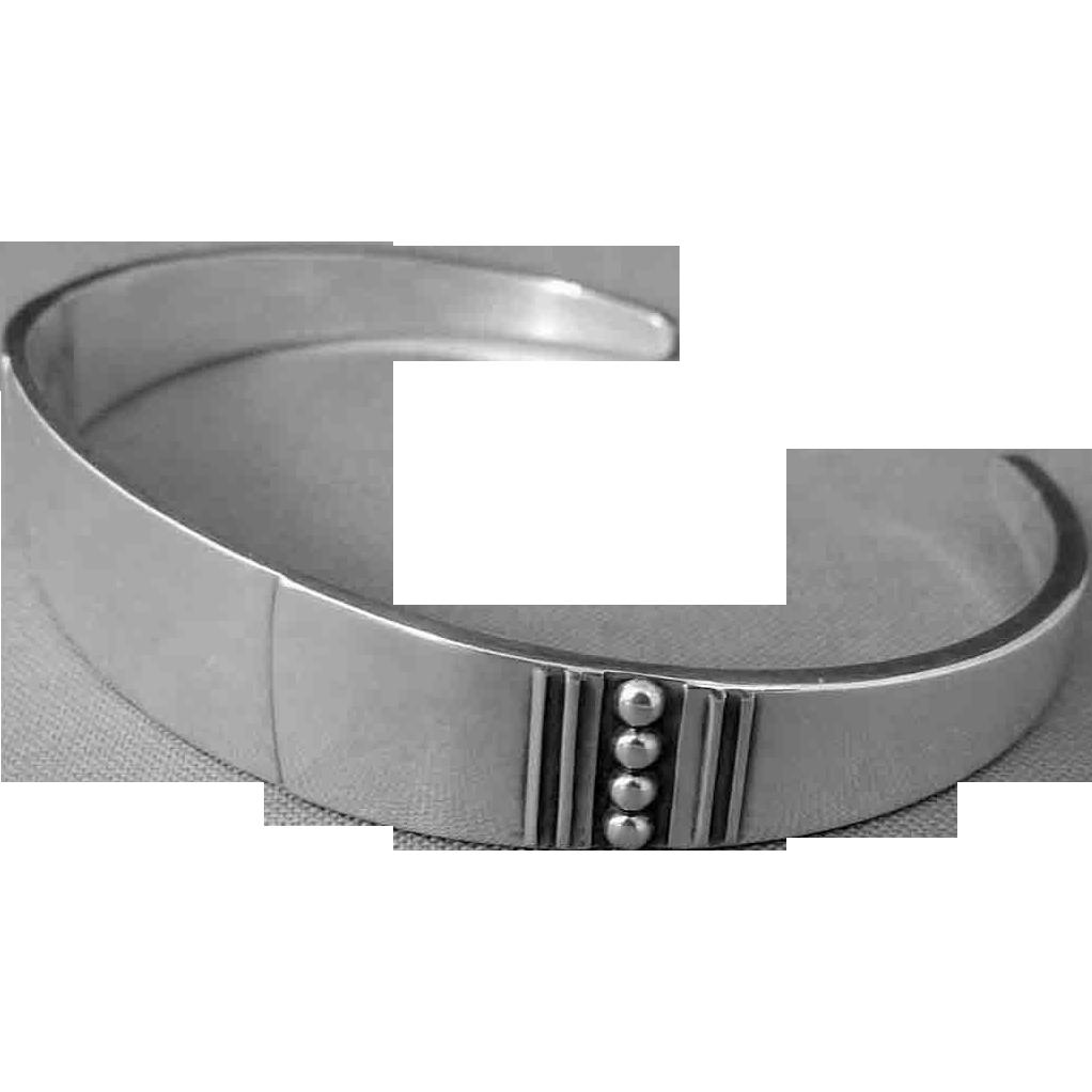 Vintage Reed & Barton Cuff Bracelet Sterling Silver Cuff Bracelet