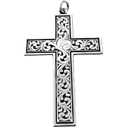 Vintage Silver Cross Pendent by Robbins Attleboro Sterling Silver Cross