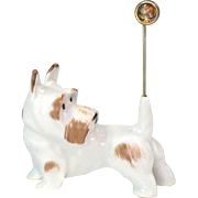 Gotha Pfeffer Scottie Dog Figurine Pin Holder Circa 1932 - 1942