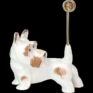 Gotha Pfeffer Scottie Dog Figurine Pin Holder Circa 1932 - 1942