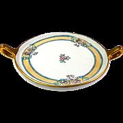 Limoges  Art Nouveau Hand Painted Dish With Handles GDA Mark Gerard Dufraisseix & Abbot