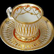 Royal Chelsea Cathedral Cup & Saucer English Bone China 5135
