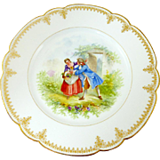 Antique Sevres Cabinet Plate Hand Painted Artist Signed With Chateau De St. Cloud Mark 1846