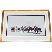 "Race Track Pastel ""Post Parade Listed Artist Anne Wolfe Renowned Animal Artist"