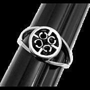 Vintage Ola Gorie St. Magnus Ring Sterling Silver OMG Mark Circa 1968 - 1972