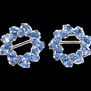 Vintage Pair Rhinestone Pins.