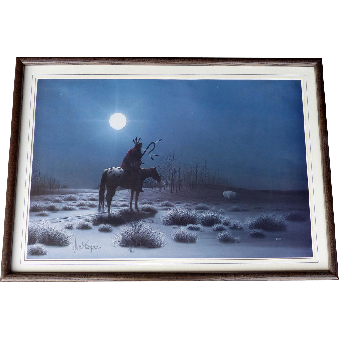 """Native American Print by Listed Cherokee Artist Donald Vann """"Mystic Vision""""  Limited Edition Numbered Artist Signed"""