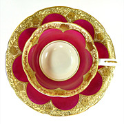 Demitasse Set Occupied Japan by Wako China Heavy Gold Decoration