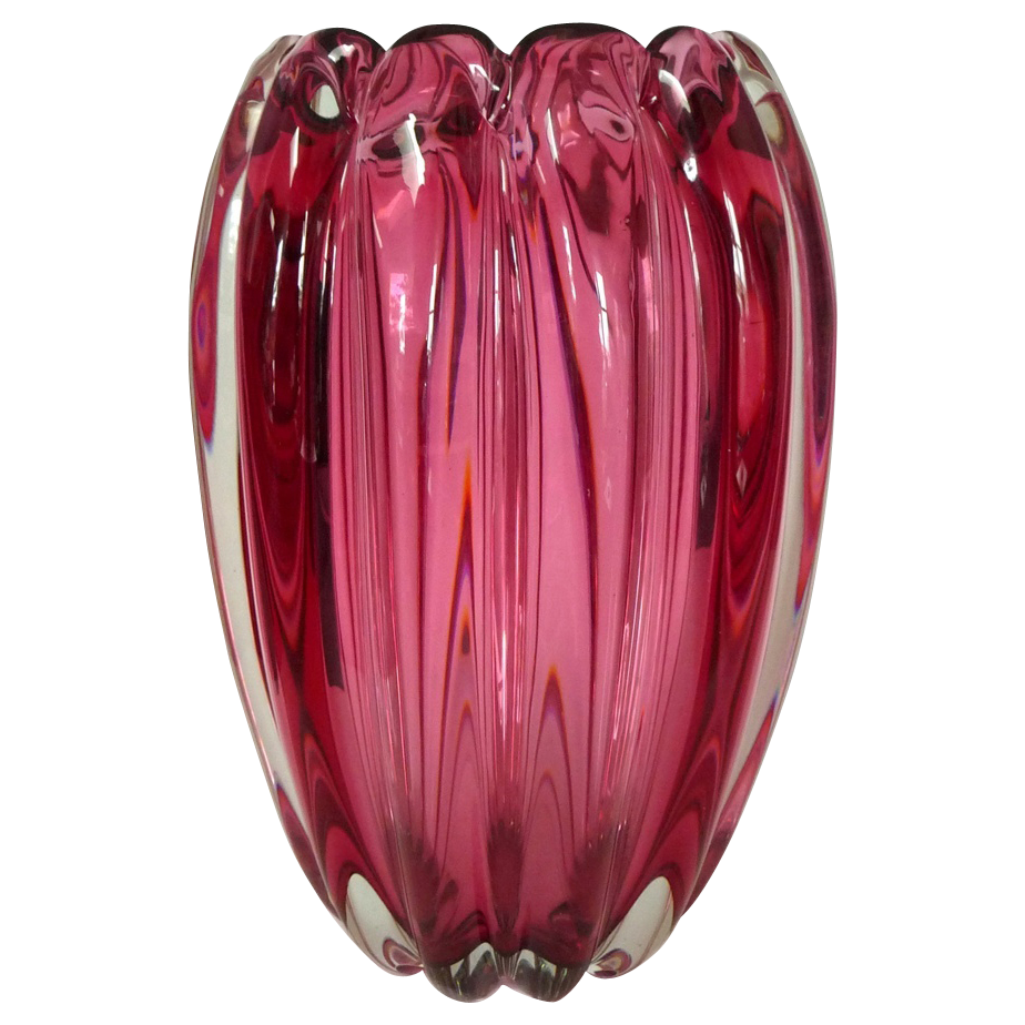 alfredo barbini vase venetian murano glass barbini 1950s from millcovetreasures on ruby lane. Black Bedroom Furniture Sets. Home Design Ideas