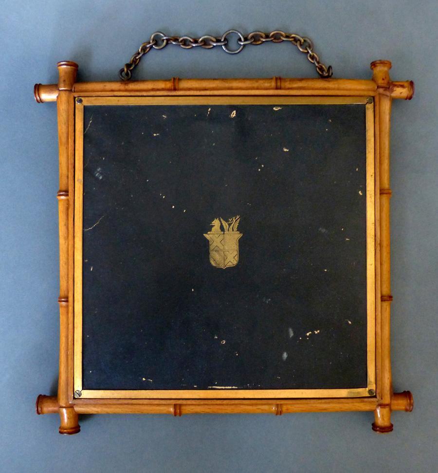 Antique tri fold mirror 19th century 1876 chinoiserie for Tri fold mirror