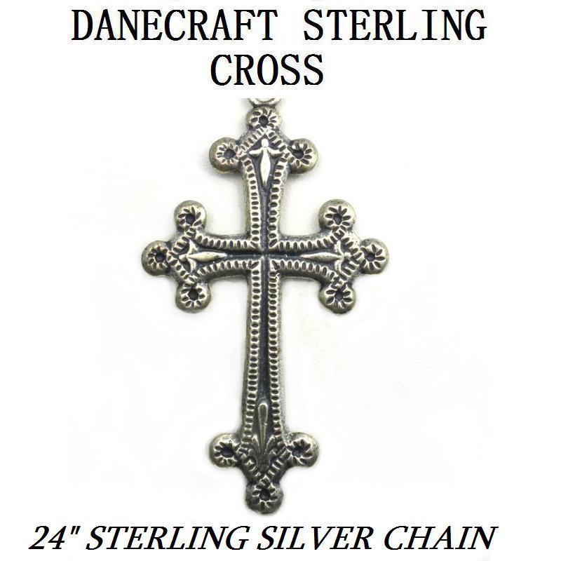 danecraft sterling silver cross fleur de lis designs from