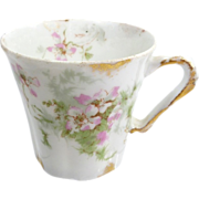 Haviland Limoges Demitasse Chocolate Cup With Cherry Blossoms