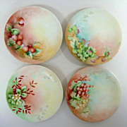 Antique Limoges Plates Pouyat JPL Limoges Hand Painted Limoges Plates Set of 4